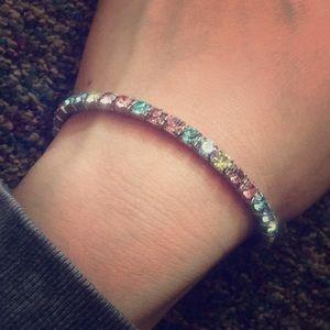 Jewelry - Beautiful Jeweled Pastel Colored Bracelet